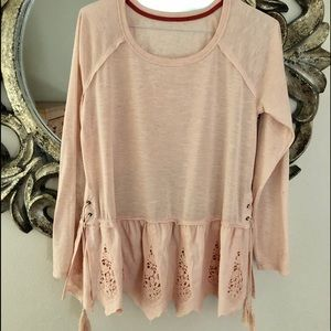 Anthropology Pale Dusty Rose Swing Top